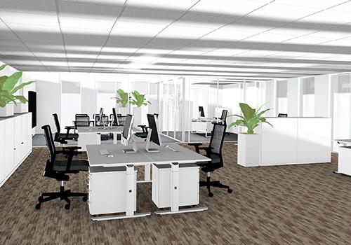 Een design kantoorinrichting binnen budget is onze for Inrichting kantoor